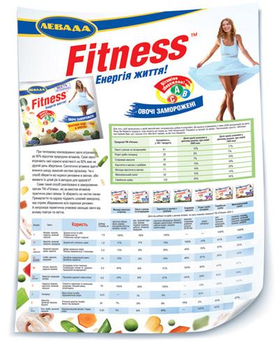 Таблица содержания витаминов в замороженных овощных смесях  торговой марки Fitness