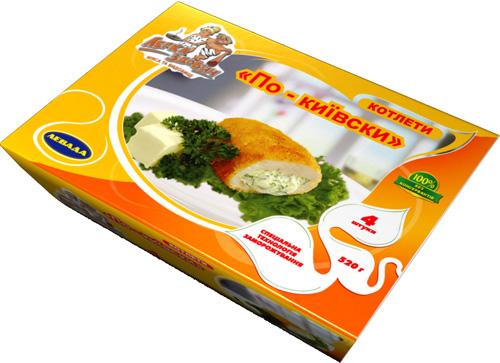 Упаковка для котлет по-киевски